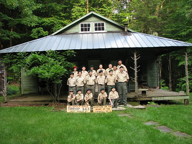 Troop 163 at Sidney Clapp's Cabin