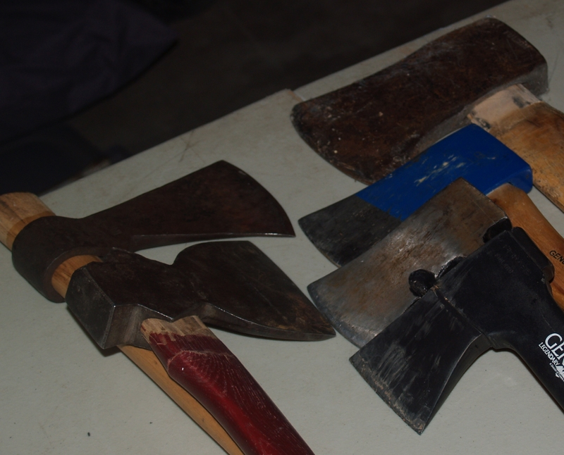 axes, hatchet and tomahawk
