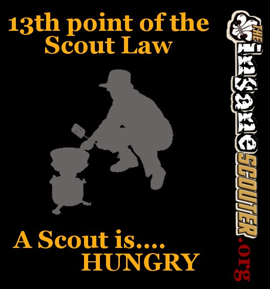 13th Scout Law - Scout is hungry