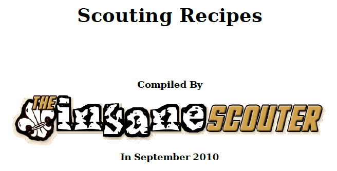Scouting Recipes
