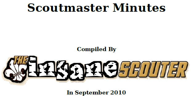 Scoutmaster Minutes